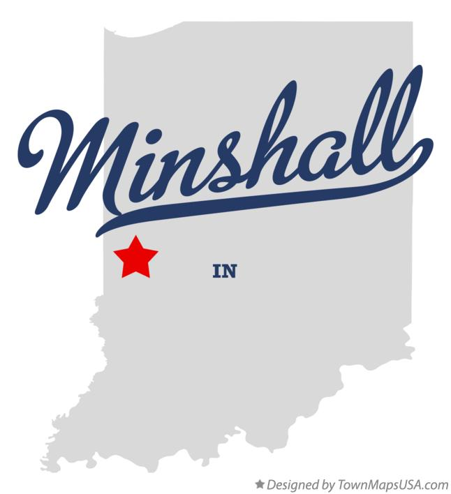 Map of Minshall Indiana IN