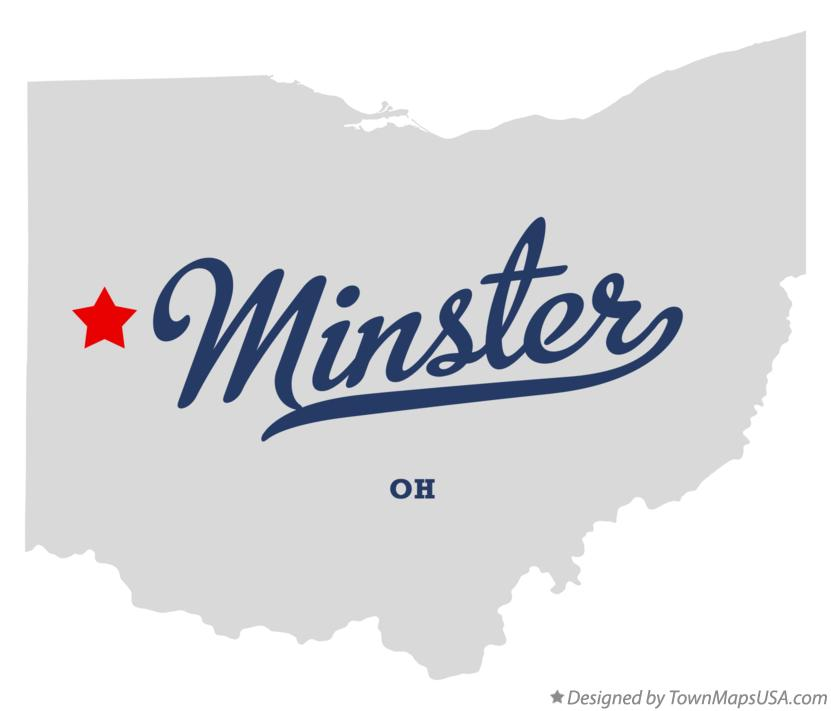 Map of Minster Ohio OH