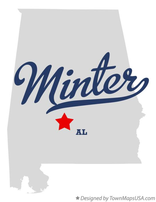 Map of Minter Alabama AL