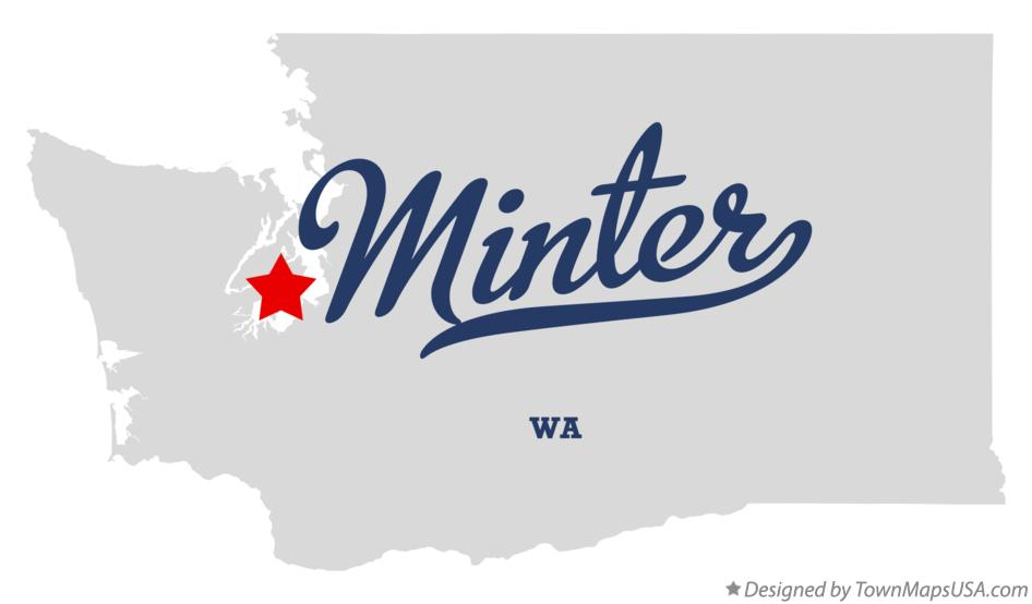 Map of Minter Washington WA
