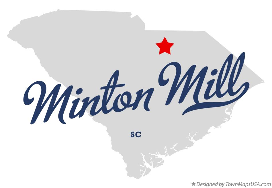 Map of Minton Mill South Carolina SC