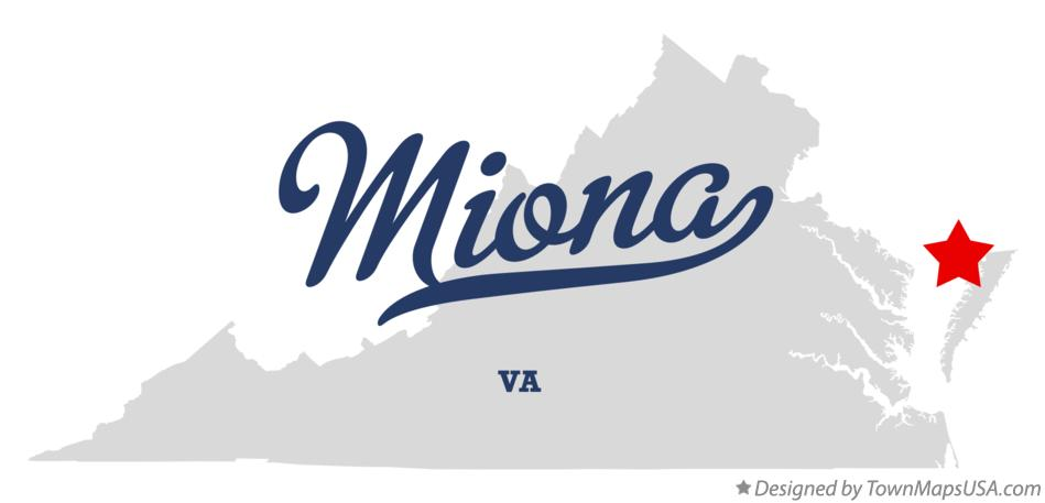 Map of Miona Virginia VA