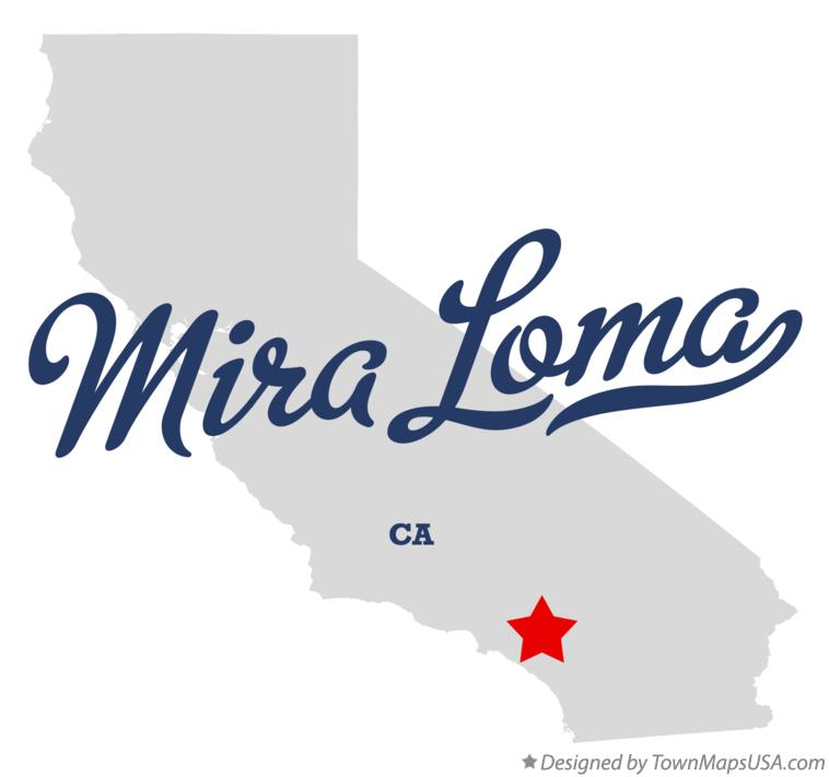 Map of Mira Loma California CA