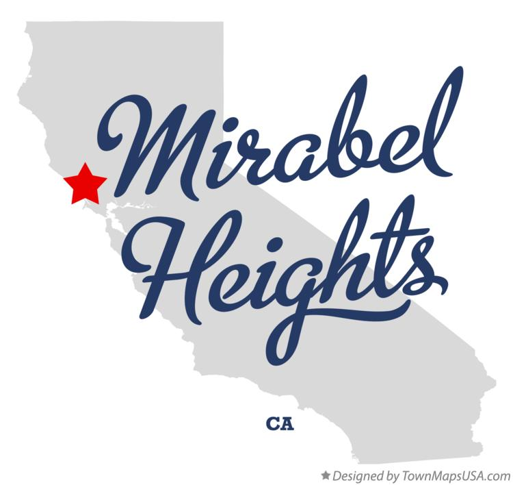 Map of Mirabel Heights California CA