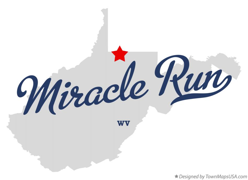 Map of Miracle Run West Virginia WV