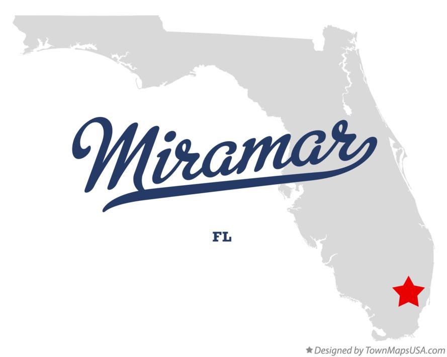 Miramar Florida Map.Map Of Miramar Fl Florida