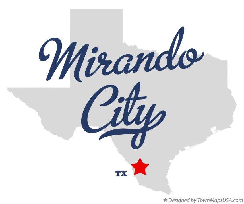 Map of Mirando City Texas TX