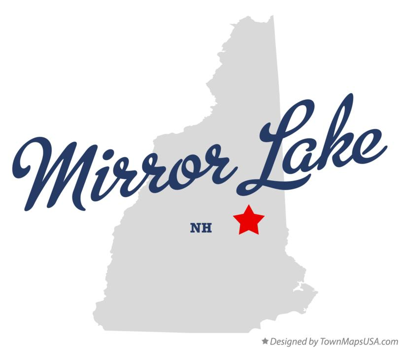 Map of Mirror Lake New Hampshire NH
