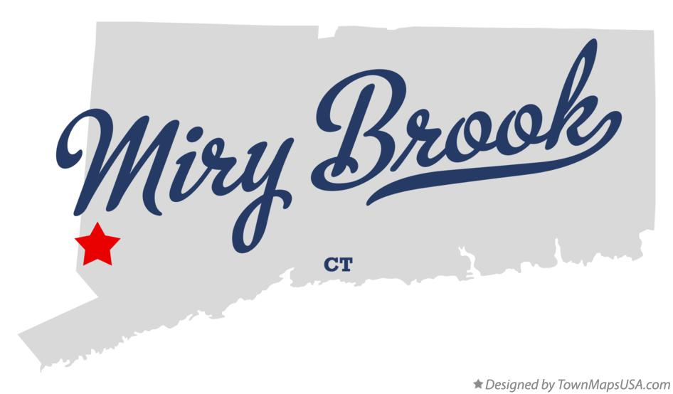 Map of Miry Brook Connecticut CT