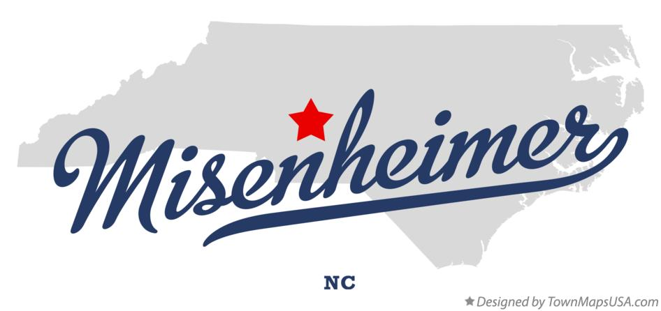 Map of Misenheimer North Carolina NC