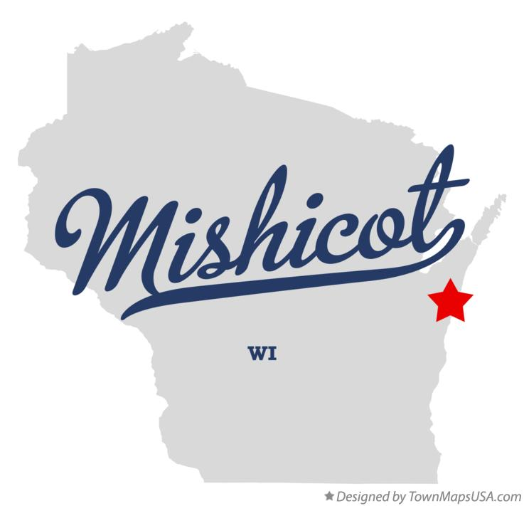 Map of Mishicot Wisconsin WI