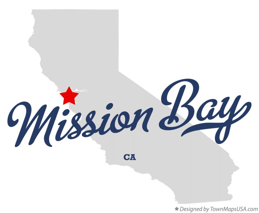Map of Mission Bay California CA