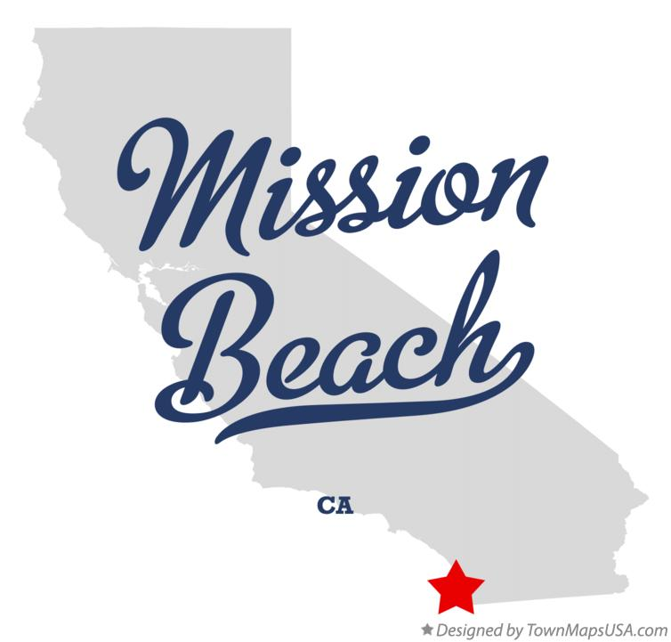 Map of Mission Beach California CA