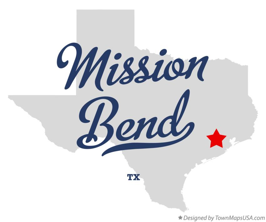 Map of Mission Bend Texas TX