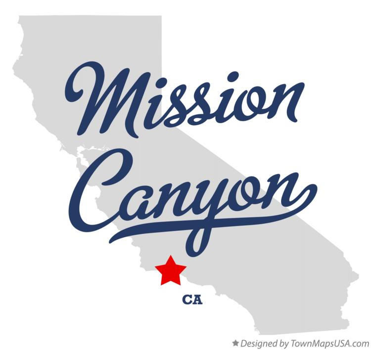 Map of Mission Canyon California CA