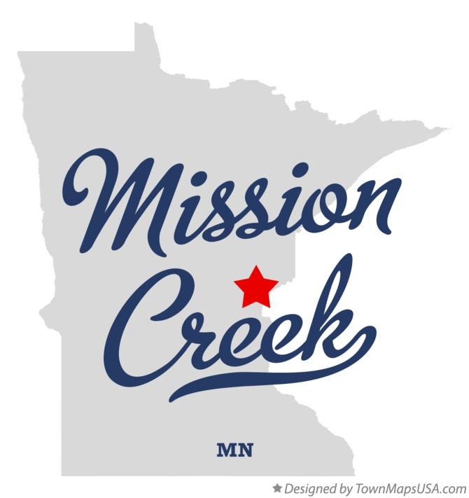 Map of Mission Creek Minnesota MN
