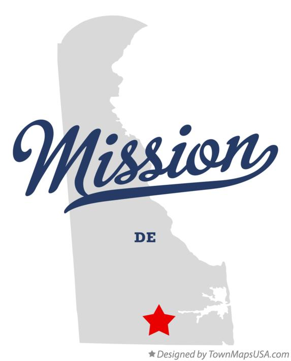 Map of Mission Delaware DE