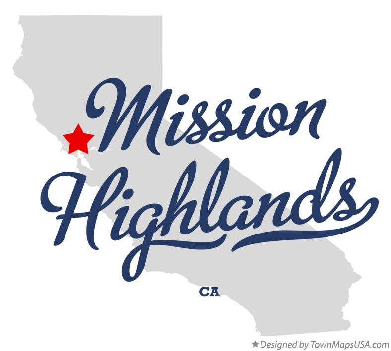 Map of Mission Highlands California CA