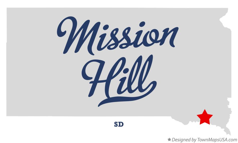 Map of Mission Hill South Dakota SD
