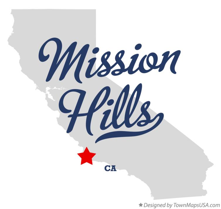 Map of Mission Hills California CA