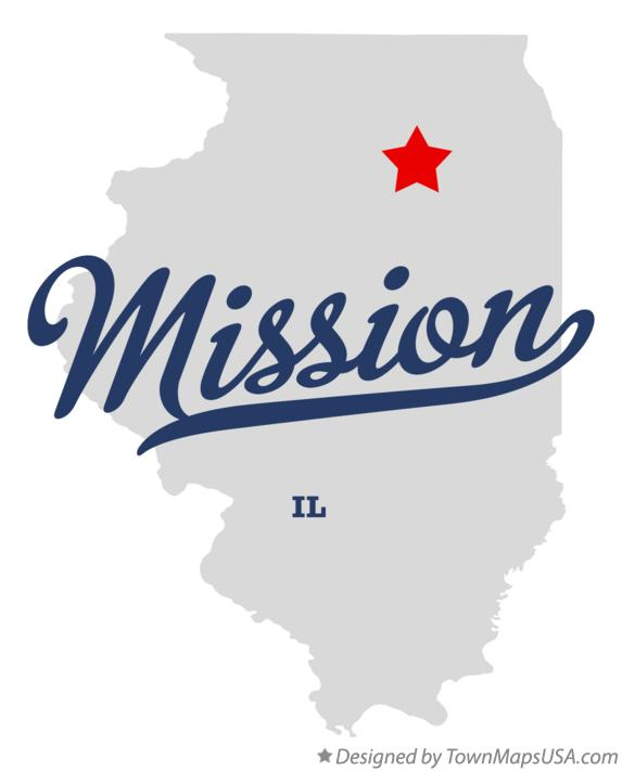Map of Mission Illinois IL