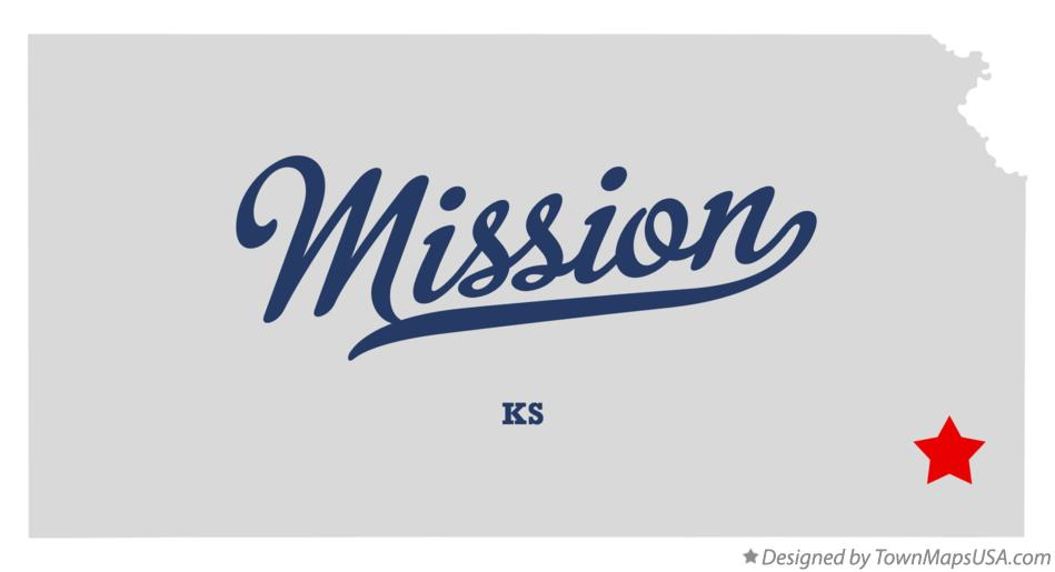 Map of Mission Kansas KS