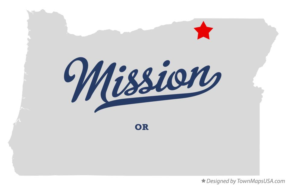 Map of Mission Oregon OR