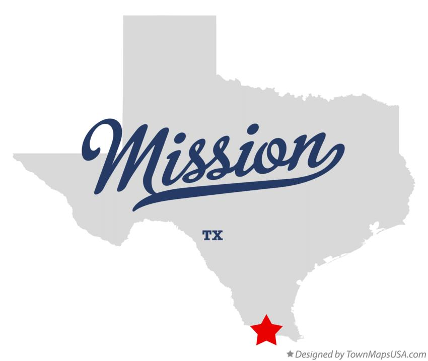 Map of Mission Texas TX