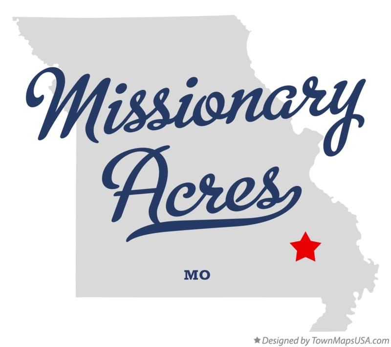 Map of Missionary Acres Missouri MO