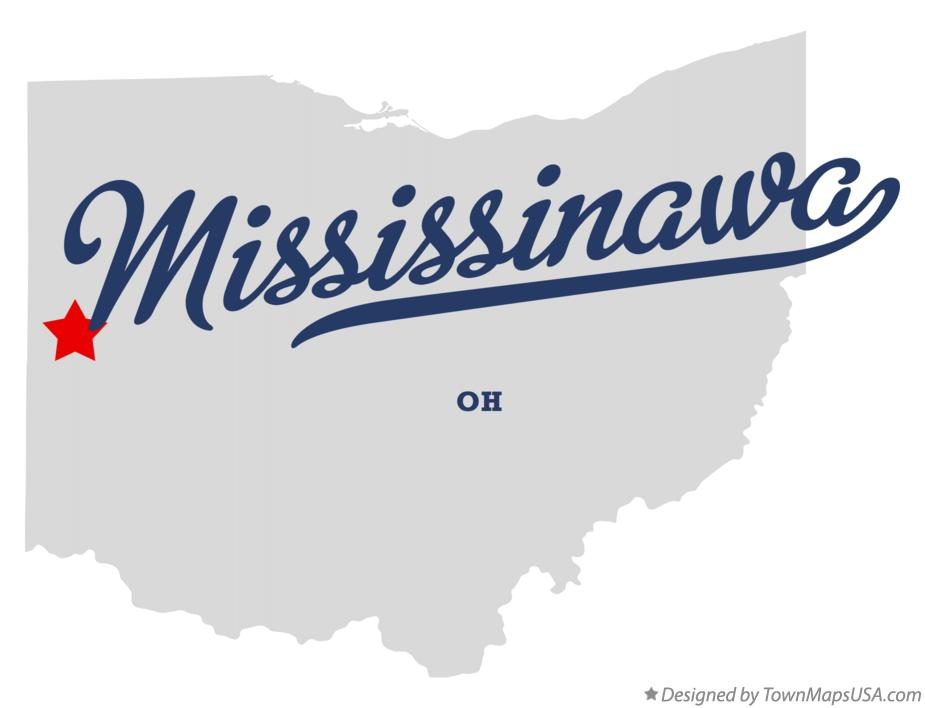 Map of Mississinawa Ohio OH