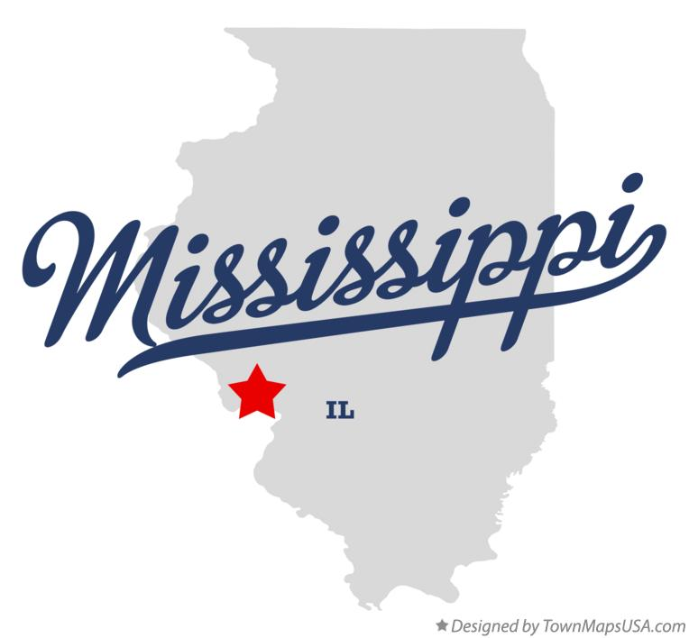 Map of Mississippi Illinois IL