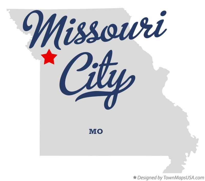 Map of Missouri City Missouri MO