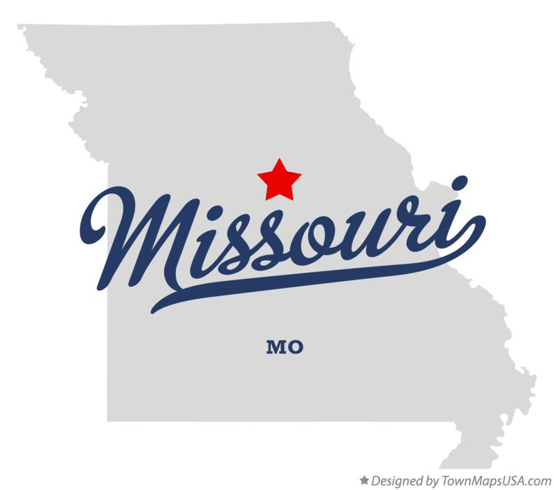 Map of Missouri Missouri MO