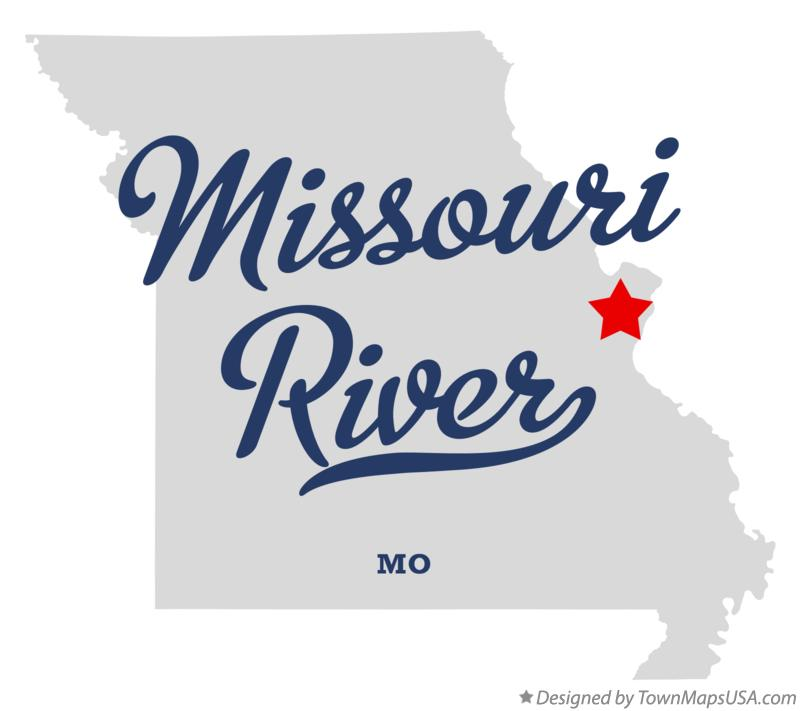 Map of Missouri River Missouri MO
