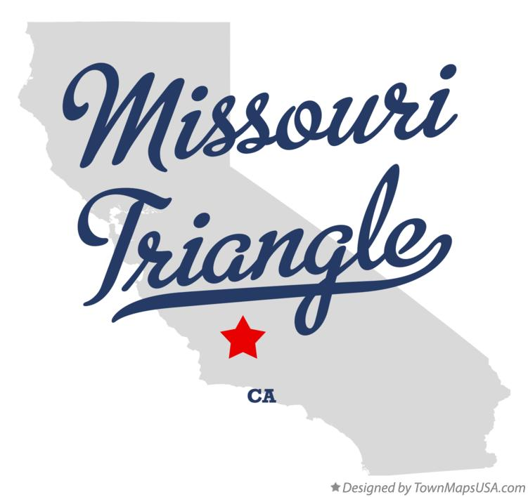 Map of Missouri Triangle California CA