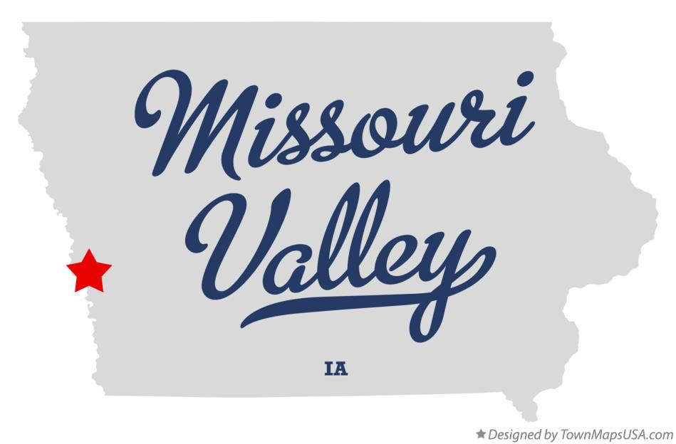 Map of Missouri Valley Iowa IA