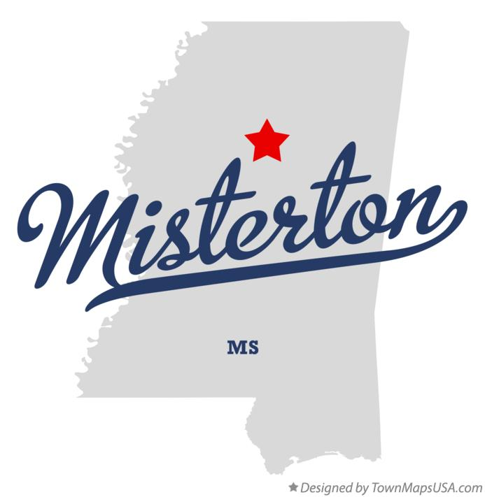 Map of Misterton Mississippi MS
