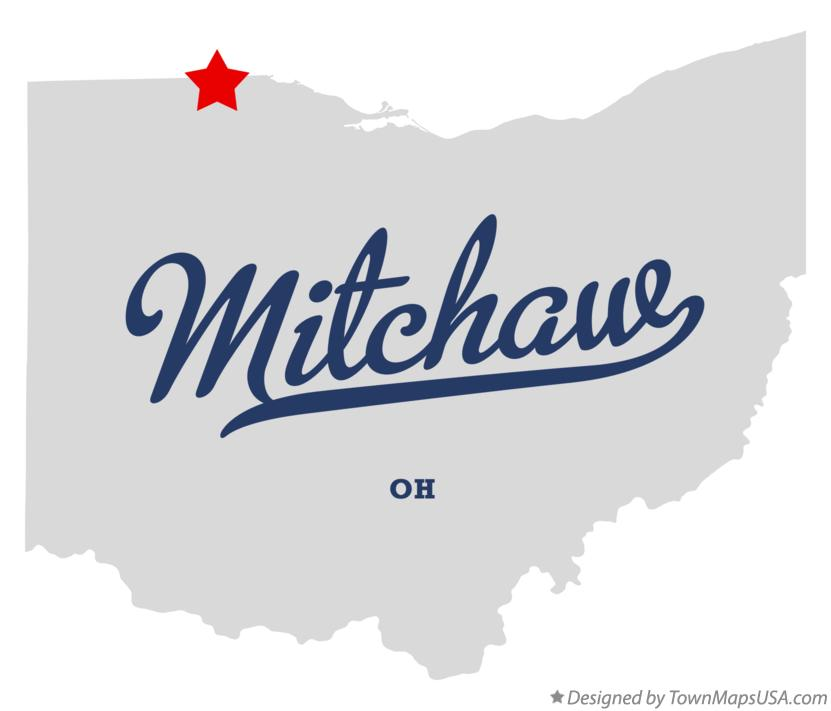 Map of Mitchaw Ohio OH