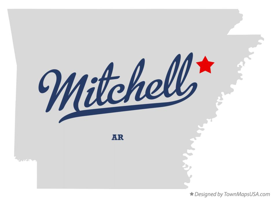 Map of Mitchell Arkansas AR