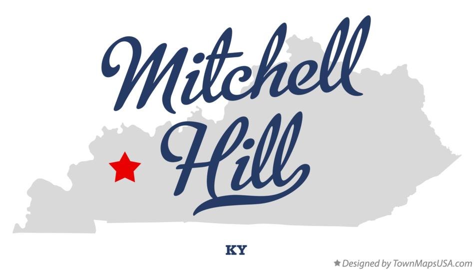 Map of Mitchell Hill Kentucky KY