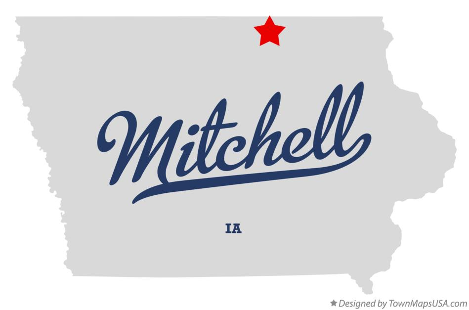 Map of Mitchell Iowa IA