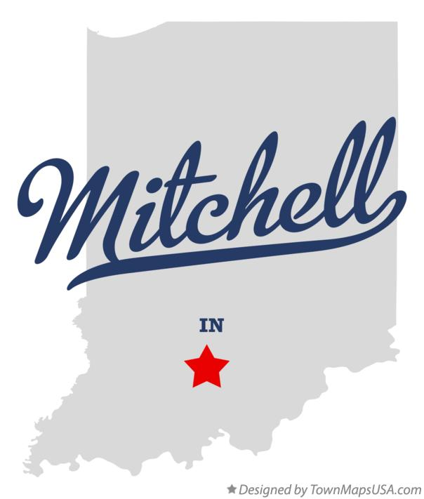 Map of Mitchell Indiana IN