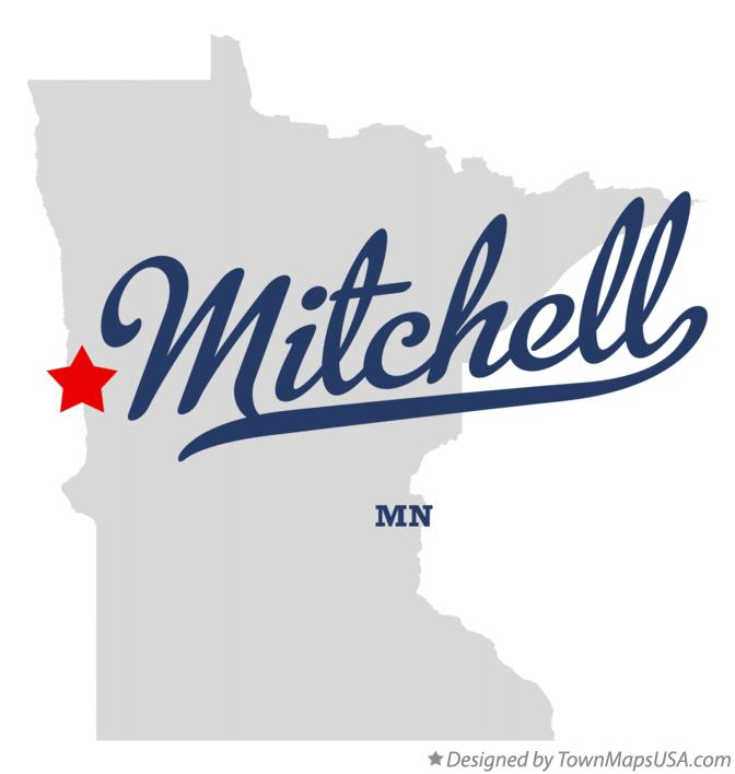 Map of Mitchell Minnesota MN
