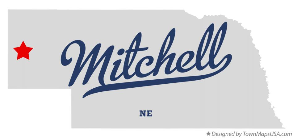 Map of Mitchell Nebraska NE