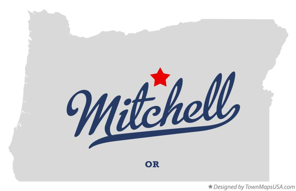 Map of Mitchell Oregon OR