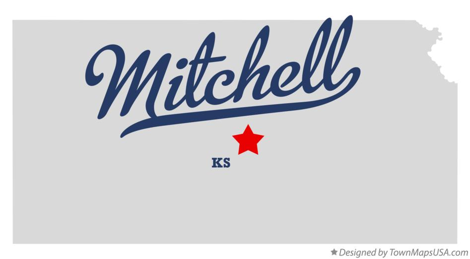 Map of Mitchell Kansas KS