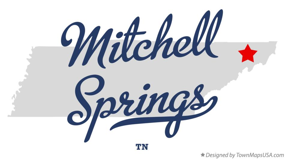 Map of Mitchell Springs Tennessee TN