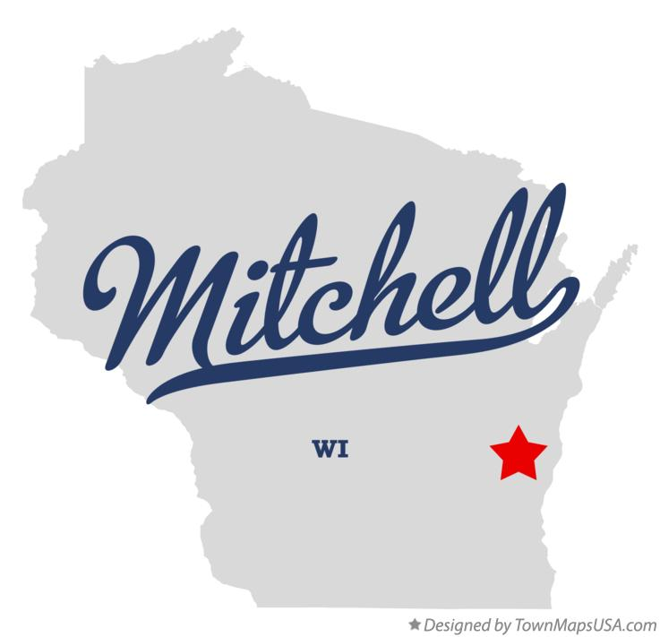 Map of Mitchell Wisconsin WI