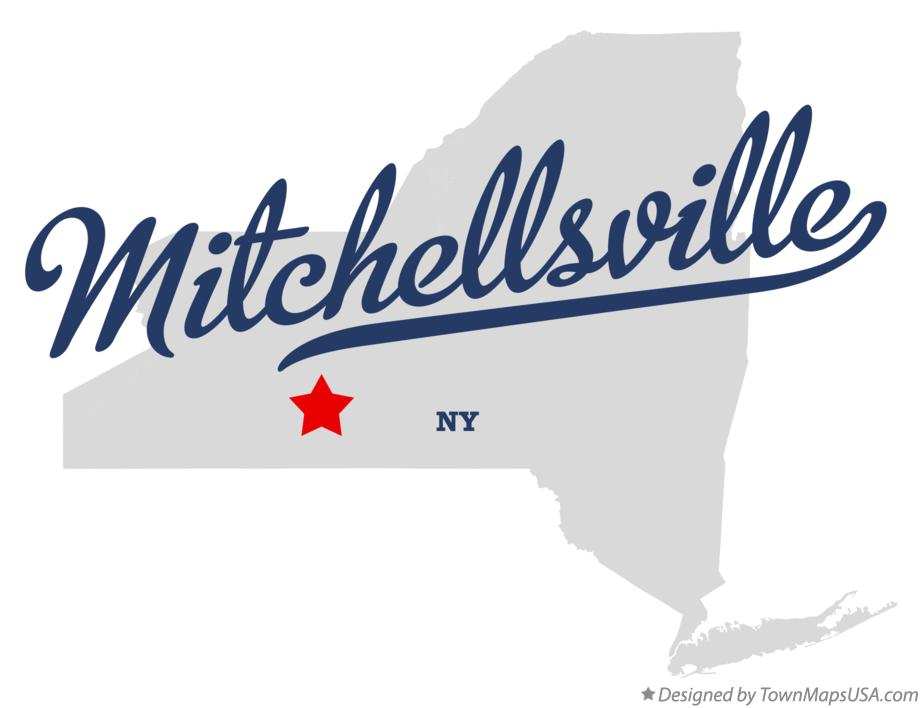 Map of Mitchellsville New York NY