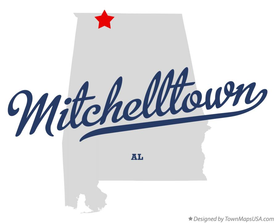 Map of Mitchelltown Alabama AL